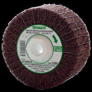 1390 - Rodillo de fibra con lija grano 80