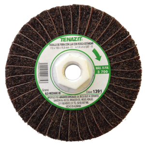 1391 - Rodillo de fibra con lija grano 80
