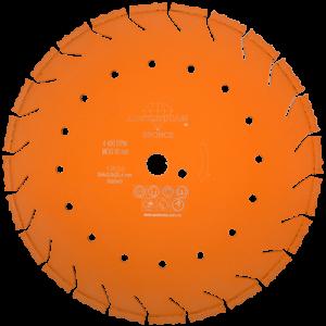 1524 - Disco de diamante naranja segmentado Corte de concreto curado