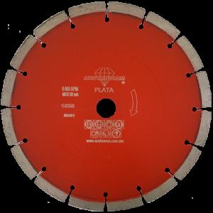 1535 - Disco de diamante rojo segmentado Cantera