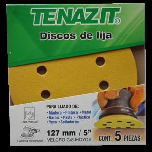 1556 - Paquete de 5 discos de lija autoadherible TSA4 Gold grano 80