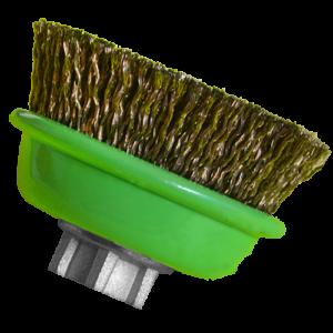 1566 - Cepillo tipo copa de Alambre ondulado cablecillo Latonado