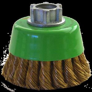 1569 - Cepillo tipo copa de Alambre trenzado Laton antichispa