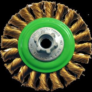 1571 - Cepillo circular de Alambre trenzado Laton antichispa