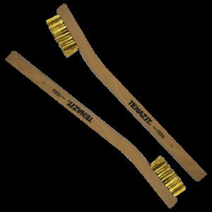1586 - Minicepillo manual Latonado con mango de madera
