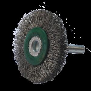 1649 - Cepillo circular de Alambre inoxidable ondulado con vastago