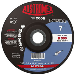 2008 - Disco con centro deprimido para corte de metal