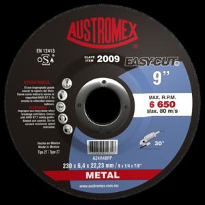 2009 - Disco con centro deprimido para desbaste de metal