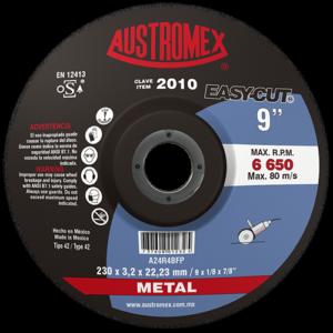 2010 - Disco con centro deprimido para corte de metal