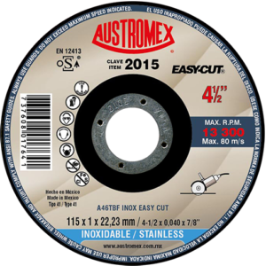 2015 - Disco super preciso para corte de acero inoxidable