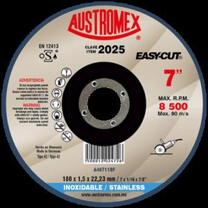 2025 -  Disco con centro deprimido para corte de acero inoxidable