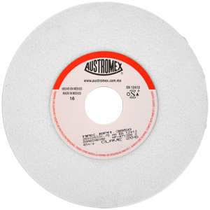 206 - Rueda blanca vitrificada para esmerilado de acero