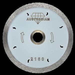 2160 - Disco de diamante blanco rin continuo Porcelanato con desahogos tipo flecha