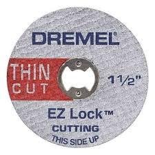 Discos de Corte Delgado EZ Lock™ para Metal EZ-409 (paq. de 5) 2615E409AA