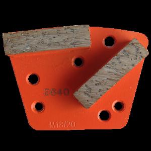 2640 - Segmentos de diamante Pulido de concreto grano 18/20