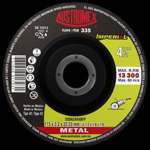 335 - Disco con centro deprimido para corte de metal