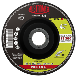 336 - Disco con centro deprimido para desbaste de metal