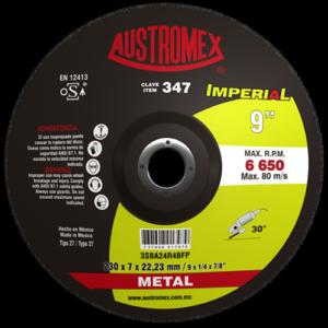 347 - Disco con centro deprimido para desbaste de metal