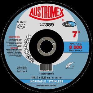 389 - Disco con centro deprimido para desbaste de acero inoxidable