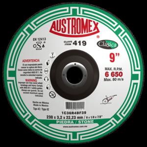 419 - Disco con centro deprimido para corte de piedra