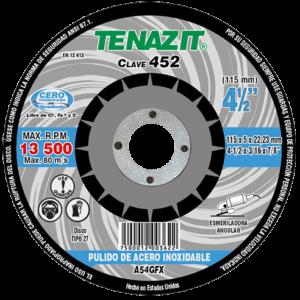 452 - Disco con centro deprimido para pulido de acero inoxidable