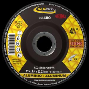 480 - Disco con centro deprimido para desbaste de aluminio
