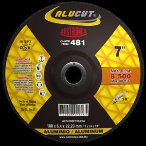 481 - Disco con centro deprimido para desbaste de aluminio