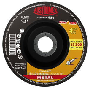 524 - Disco con centro deprimido para corte de metal