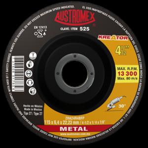 525 - Disco con centro deprimido para desbaste de metal