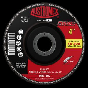 529 - Disco con centro deprimido para desbaste de metal