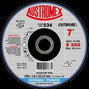 534 - Disco con centro deprimido para corte de acero inoxidable