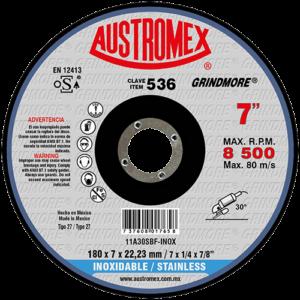 536 - Disco con centro deprimido para desbaste de acero inoxidable