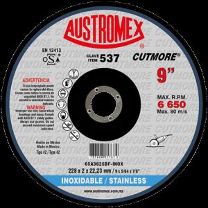 537 - Disco con centro deprimido para corte de acero inoxidable