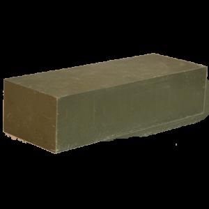 549 - Ladrillo abrasivo Shellac verde