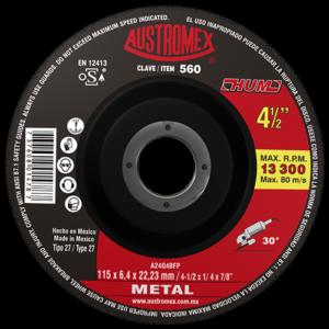 560 - Disco con centro deprimido para desbaste de metal