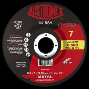 561 - Disco con centro deprimido para desbaste de metal