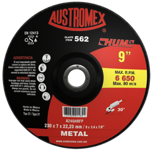 562 - Disco con adaptador integrado para desbaste de metal