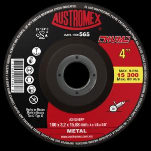 565 - Disco con centro deprimido para corte de metal