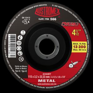 566 - Disco con centro deprimido para corte de metal