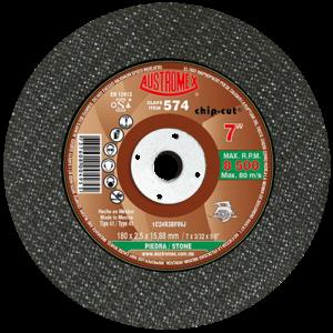 574 - Disco con centro deprimido para corte de piedra