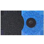 648 - Disco de fibra de cambio rápido azul Grano fino