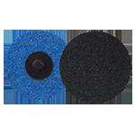 649 - Disco de fibra de cambio rápido azul Grano fino