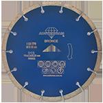 812 - Disco de diamante azul segmentado Uso General