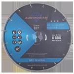 837 - Disco de diamante azul segmentado Uso General