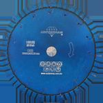859 - Disco de diamante azul segmentado Uso General