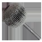 946 - Rueda flap esférica con vástago grano 80