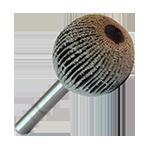 947 - Rueda flap esférica con vástago grano 80