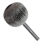 948 - Rueda flap esférica con vástago grano 80