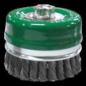 968 - Cepillo tipo copa de Alambre trenzado