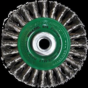 974 - Cepillo circular de Alambre inoxidable trenzado